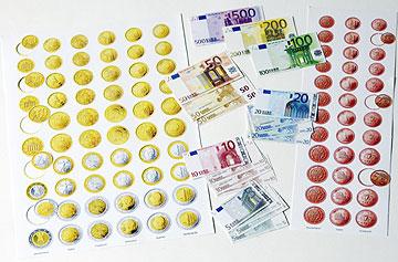 Euroscheine Kinder Rechengeld Buntebank 50 Beidseitig Mobil