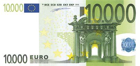 neue euros buntebank einseitig 125 din lang 210x98 mm. Black Bedroom Furniture Sets. Home Design Ideas